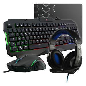 Kit Gaming Pack Gaming Combo Gamer Evolution Jeu Vidéo Ordinateur Informatique
