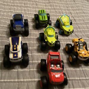 2014 Viacom Mattel Blaze & The Monster Machines Trucks Lot of 7