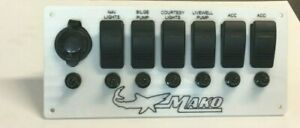 MAKO Switch boat panel READY TO GO ALL OEM COMPONENTS 6 SWITCHES & BREAKERS 12V