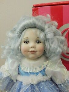 "BREENA 2005 Marie Osmond/Karen Scott 8.5"" Porcelain Fairy Tot Doll w/Blue Hair"