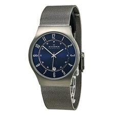 Skagen 233XLTTN Men's Denmark Titanium Blue Dial Quartz Watch