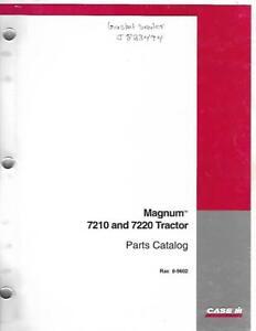 CASE IH 7210 AND 7220 MAGNUM TRACTORS PARTS CATALOG