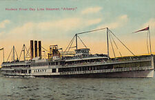"Postcard USA Hudson River Day Line Steamer ""Albany"" ship unused"