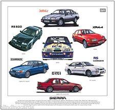 FORD SIERRA - Stampa artistica - ZAFFIRO RS Cosworth XR4x4 XR4i RS500 ILLUSTRATO