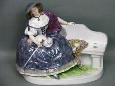 """ENS Figur """"Dame mit Katze"""" Anton Büschelberger Figure Figurine um 1920"""