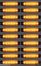 20 Stk x 12V 6 LED Seitenblinker orange bernstein Blinker Lichter