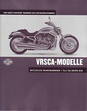 Harley-Davidson Handbuch elektrische Diagnose 2002 V-rod deutsch Anleitung VRSCA