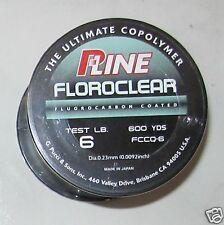 pline clear fluorocarbon line 6lb 600 yd NEW  p line