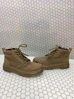 Dr. Martens BONNY II Olive Canvas 6-Eye Lace Up Ankle Boots Men Size 7  Womens 8