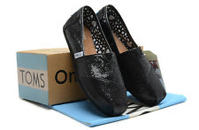 af530699d926 New Authentic Women Black Glitter Toms Shoes