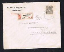 Nederland 1929 Aangetekende Envelop met 193 EF A'dam v.Eeghenstraat > Annaberg