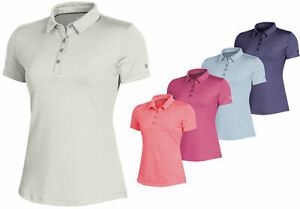 Under Armour Womens Zinger 2.0 Heather Golf Polo Shirt Ladies New