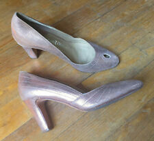 ZADIG & VOLTAIRE - ESCARPINS CUIR ROSE NACRÉ/PEARLY PINK LEATHER PUMPS - 38/UK5