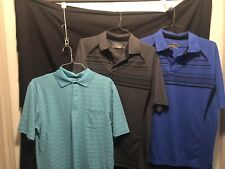 Lot Of (3) Grandslam Performance Polo Mens S/s Shirt Sz Lg
