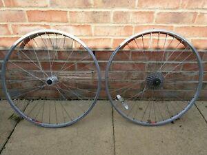 Wheelset 26x1.5 Weinmann 519 Rims on Shimano FH-RM40 Hubs 7 Speed