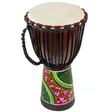 More details for aklot djembe african hand drum solid mahogany standard 10inch goat skin drumhead