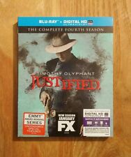 Justified The Complete Fourth Season 4 Four NEW Blu-ray + Digital HD + SLIPCOVER