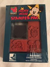 Disney MICKEY MOUSE 3 Stamper Pak Rubber Stamp. Foam Handle. Unlimited