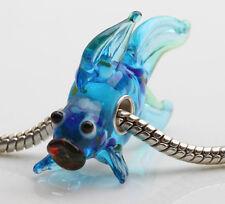 1pcs MURANO GLASS BEAD LAMPWORK Fit European Charm Bracelet DWO303 lovely Animal