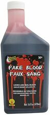 16Oz Stage Fake Blood Horror Makeup Vampire Halloween Venous Arterial Prop USA