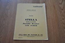 Stella ST108AB Portable Mains Battery Radio Vintage Service Manual ST 108 AB