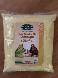 Desi Makkai Chakki Atta Yellow Corn Maiz Flour  Alnoor 1.5kg