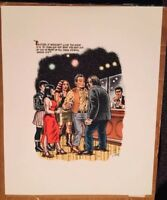 R. Crumb color serigraphs - Bukowski - The Captain is Out 1997 -3 images