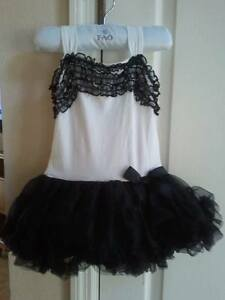 White & Black Petti Twirl Dress TONS of Ruffles POPATU BRAND NEW With TAGS