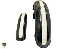 Triumph T120 T100 T90 Black & White Front & Rear Mudguards Set  |Fit For