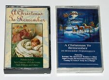A Christmas to Remember Cassette Lot of 2 1980 1992