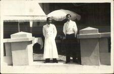 Occupation Work - Waiter on Restaurant Patio c1920s Real Photo Postcard