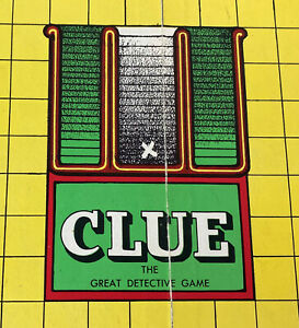 PARKER BROS CLUE DETECTIVE GAME BOARD 1949 FIRST EDITION