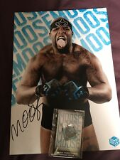 Tna Impact Superstar Moose Autograph Picture And Pin Badge Roh Wrestling