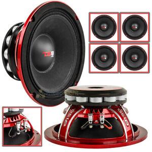 "DS18 4 Pack 8"" Inch Midrange Speakers 800 Watts Max Power PRO-NEO8R 4 Ohms"