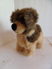 Steiff  dog German shepherd stuffed animal button made in Germany 2187