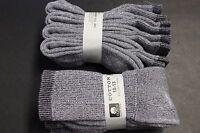 4 Pair's Men/Women 10-13 BLACK GRAY WHITE? Long Crew Socks,Cotton Athletic Socks