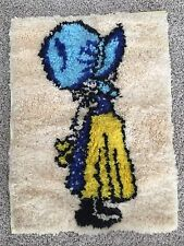 Holly Hobbie Vintage Wall Hanging Latch Hook 27 x 20