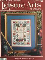 Leisure Arts Magazine August 1990 Cross Stitch Pattern Knit Crochet Crafts