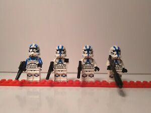 Lego Star Wars 501st Legion Clone Trooper 4 Minifigs from set 75280