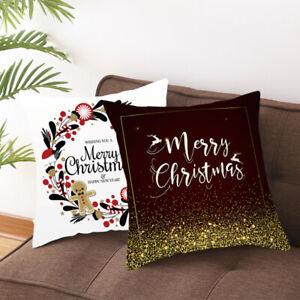 18'' Christmas Velvet Cushion Cover Throw Pillow Case Sofa Chair Home Decor 1PC