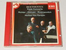 CD BEETHOVEN : TRIPLE CONCERTO RICHTER - OISTRAKH - ROSTROPOVITCH - Von KARAJAN
