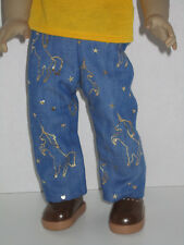 """Unicorn Denim Jeans for 18"""" Doll American Girl Doll Clothes"""