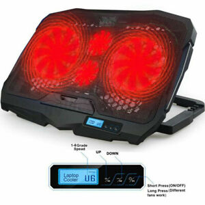 LCD Display Laptop Cooling Cooler Pad Silent Fan 6-Speed Adjustable Cooler Stand