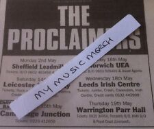 THE PROCLAIMERS - LIVE TOUR DATES 1994 - copy of small magazine advert / magnet