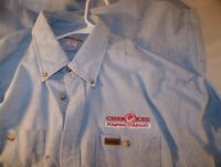 Carhartt Mens Size XL Long Sleeve Blue Shirt Cherokee Pumping Co Logo NEW