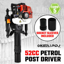 Petrol Post Driver 52cc 2 Stroke Pile Picket Star Rammer Farm Fence Fencing