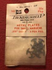 "Nos Slot Car 1960s Tradeship Metal Plates for Small Mabuchi .078"" Shaft #142"