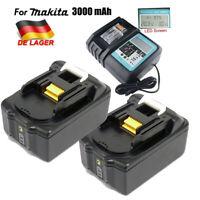 3.0AH 18V LED Akkus für Makita BL1840 BL1850 BL1860 B mit DC18RC Ladegerät