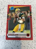 2020 Donruss JORDAN LOVE 🔥 Rated Rookie Red Press Proof #304 Green Bay Packers