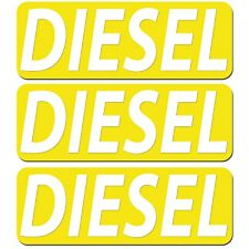 3x Diesel Fuel Only Safety Sign Warning Vinyl Sticker Car Fuel Tank Cover Decal